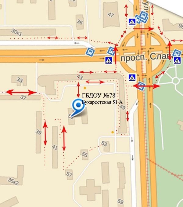 План-схема района расположения